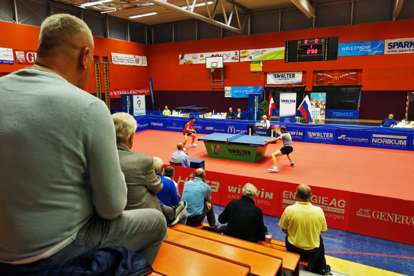 Tischtennis Champions League in Wels