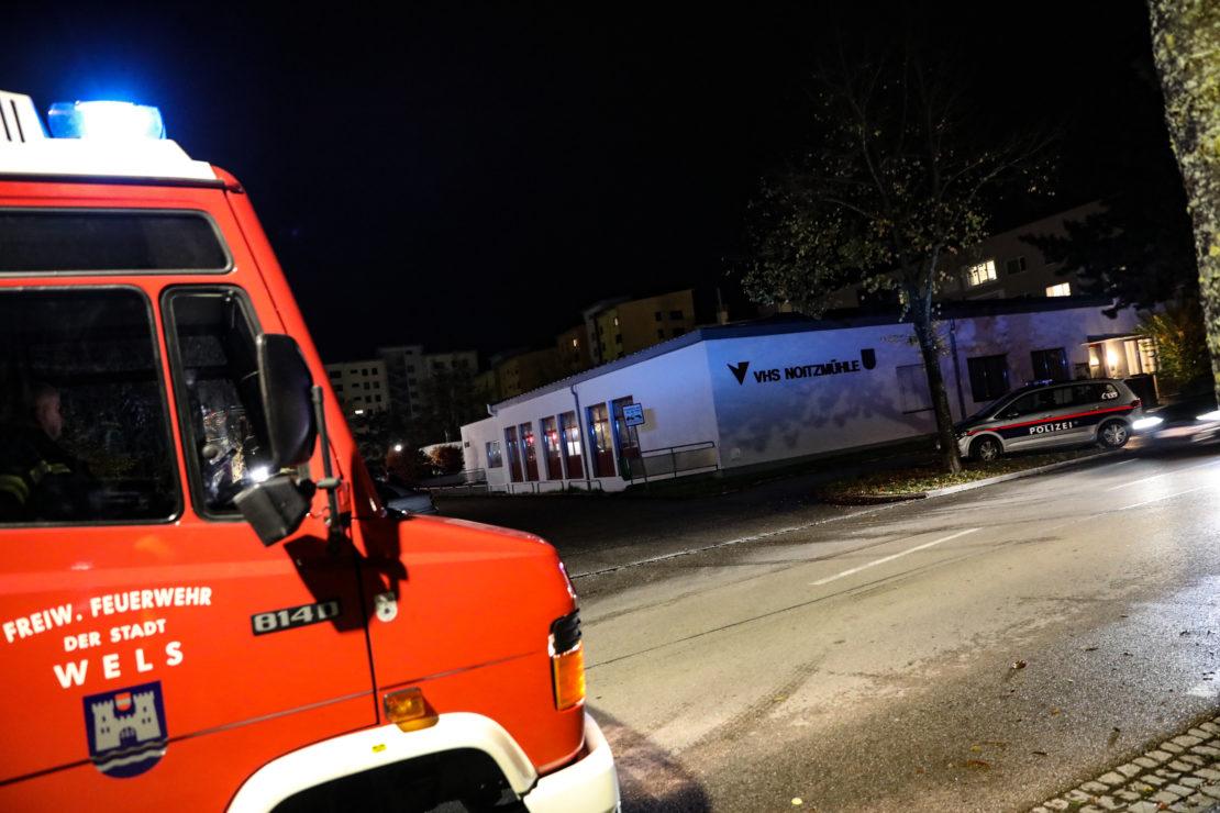 Brandmeldeanlage schlug nach Einbruch in eine Bildungseinrichtung in Wels-Lichtenegg an