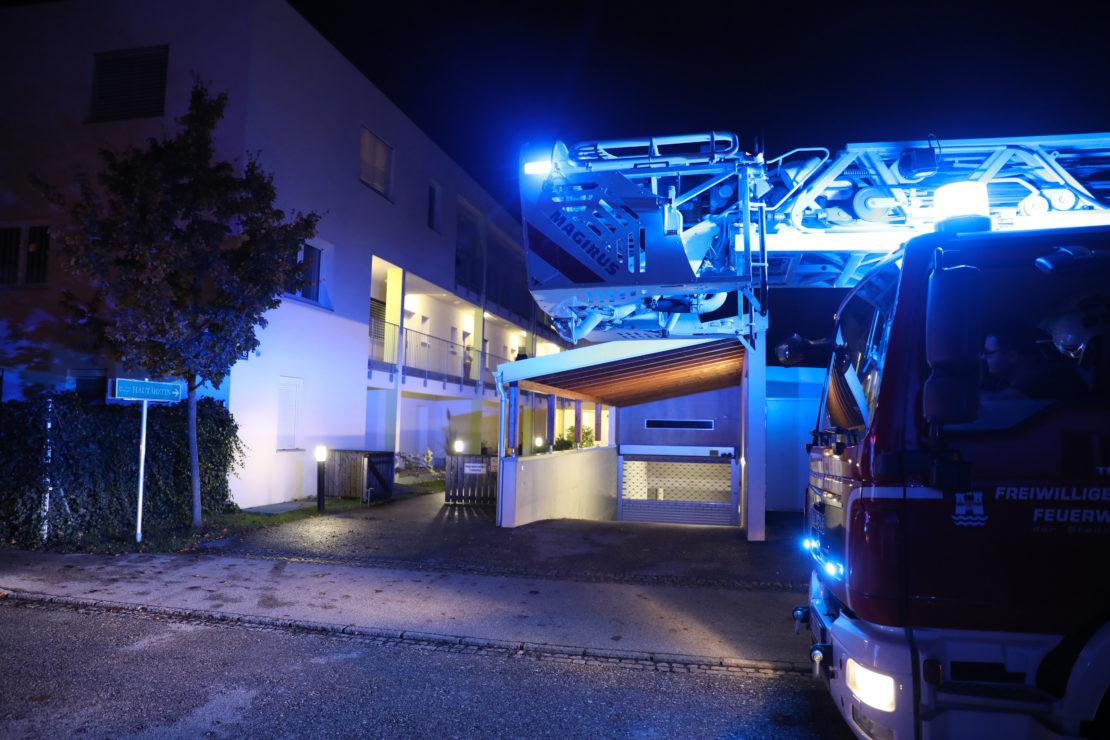 Dringende Türöffnung mit Brandverdacht in Wels-Innenstadt