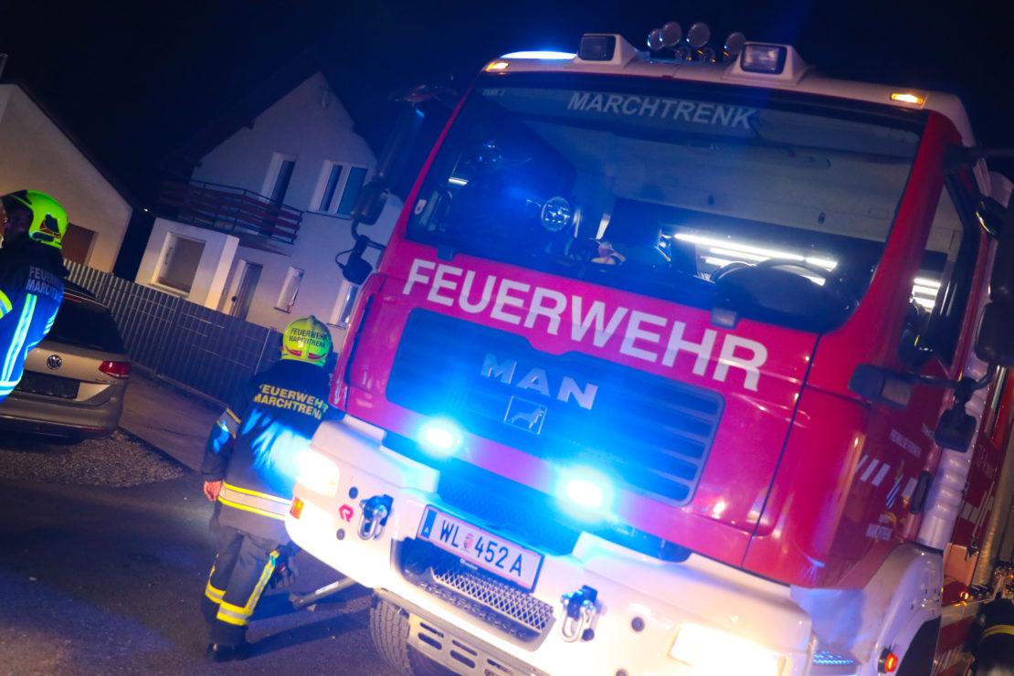 Einsatz der Feuerwehr nach gemeldetem Gasgeruch in Marchtrenk