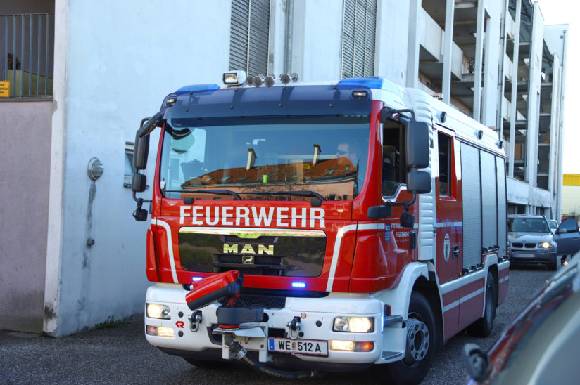 Vermeintlicher Brand in einer Wohnung in Wels-Lichtenegg