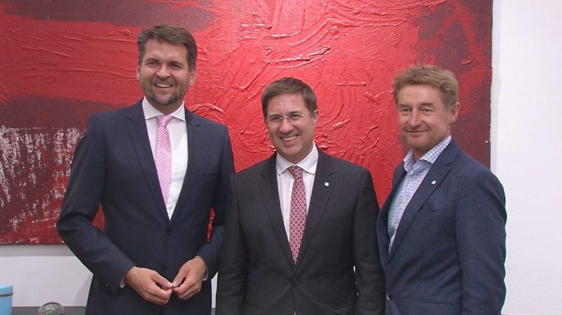10 Jahre Stadtregierung - Jubiläum für drei Welser Politiker