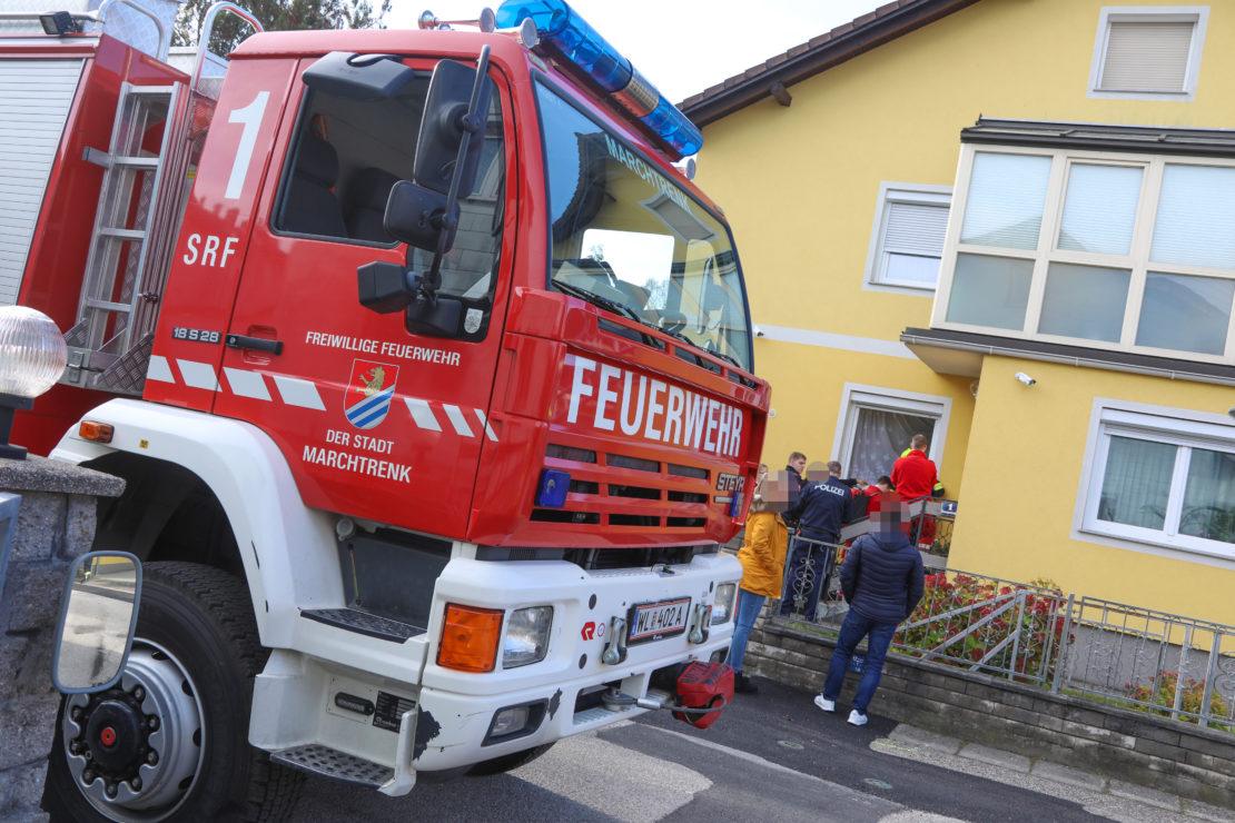 Einsatzkräfte zu Personenrettung nach Marchtrenk alarmiert