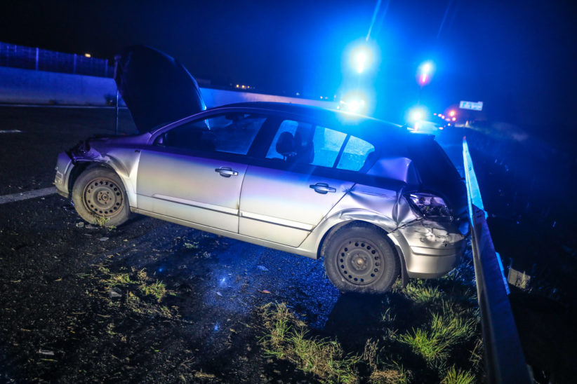 Verkehrsunfall auf der Westautobahn bei Eberstalzell