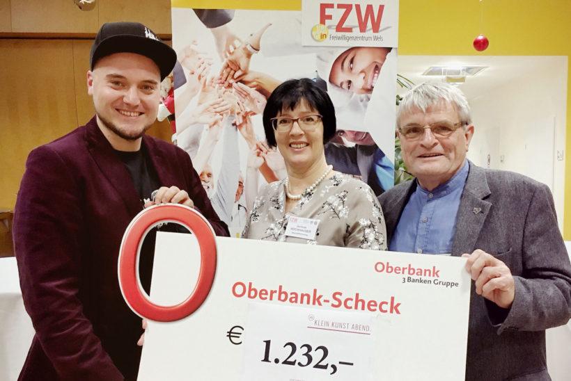 Junge Kulturinitiative zugunsten des FZW Freiwilligenzentrums: Spendenübergabe für Marchtrenker Sozialprojekte