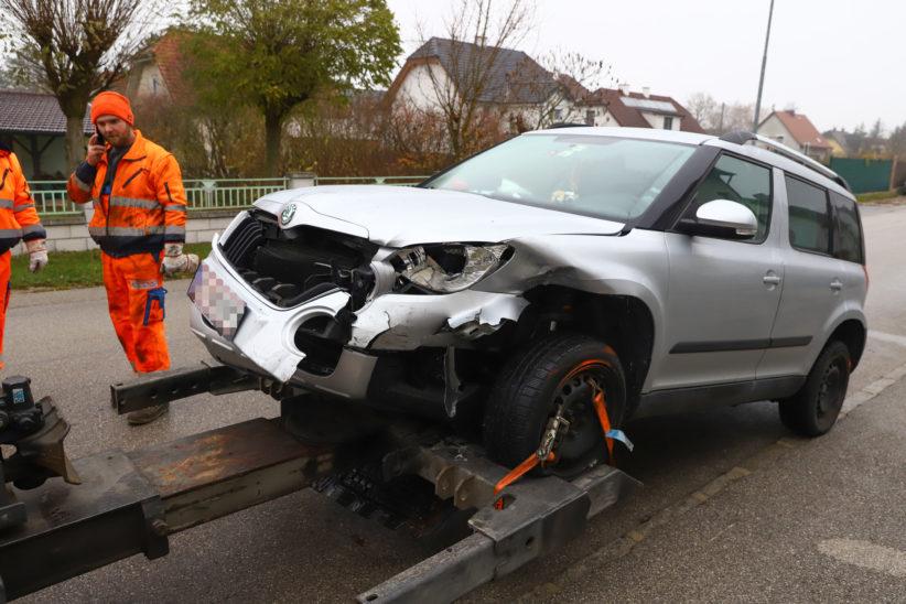 Kollision zweier Fahrzeuge in Marchtrenk