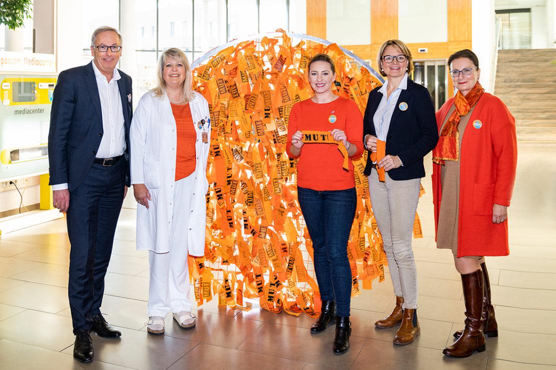 Orange the World: MUT-Objekt im Klinikum Wels-Grieskirchen