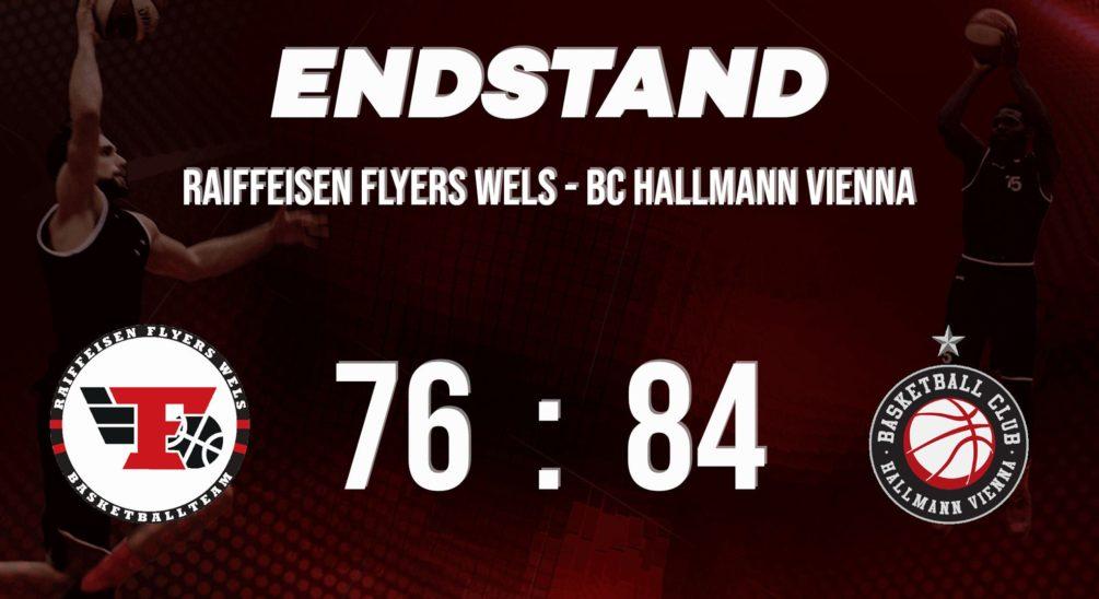 Die Raiffeisen FLYERS unterliegen gegen den BC Vienna.