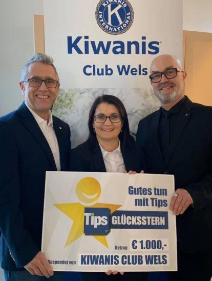 Kiwanis Club Wels Scheckübergabe