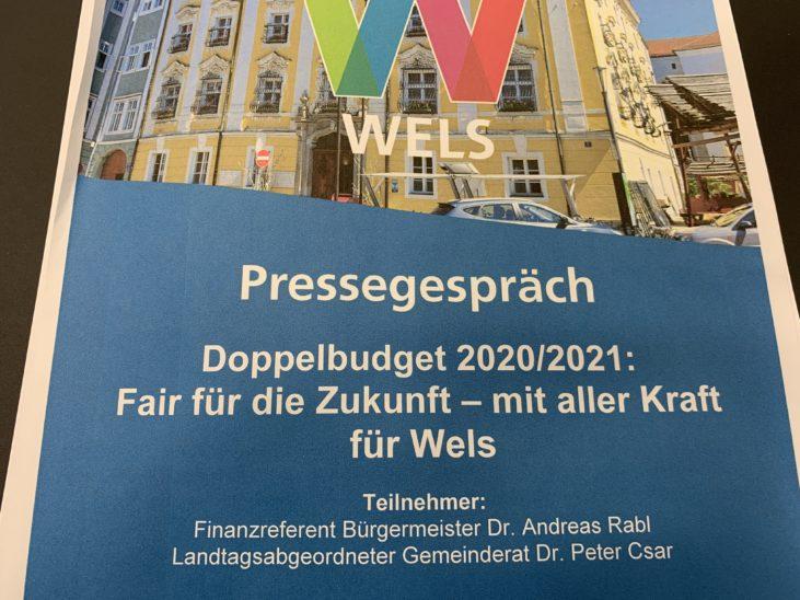 Doppelbudget für Wels