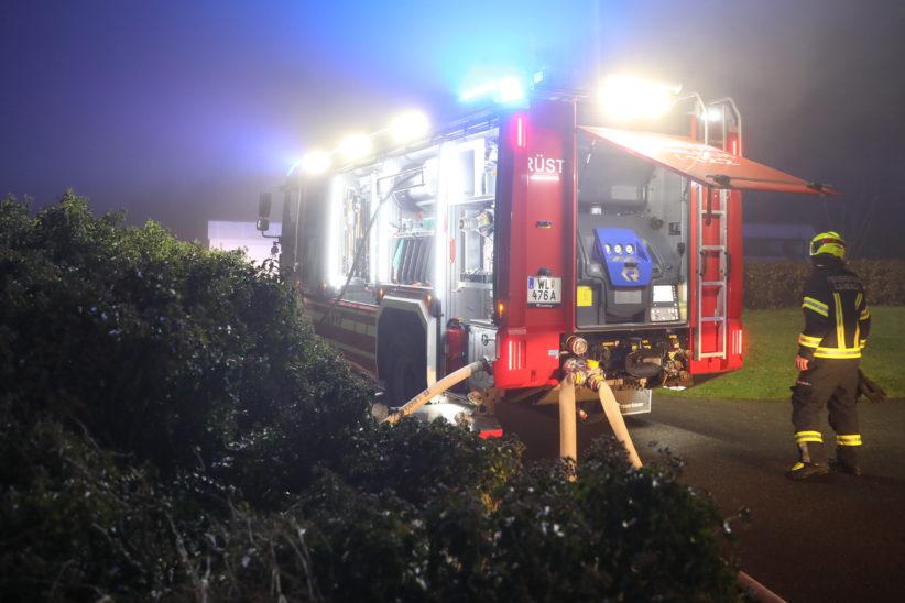 Brand im Schacht einer Pelletsheizung im Keller eines Hauses in Lambach