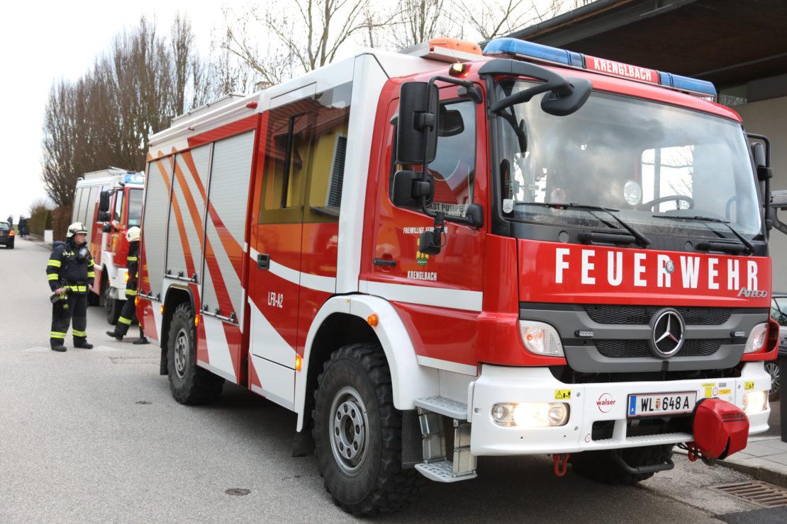 Rasche Entwarnung nach Gasalarm in Krenglbach