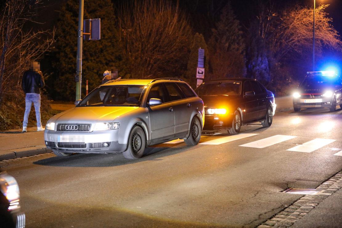 Auffahrunfall im Abendverkehr in Wels-Vogelweide endet glimpflich