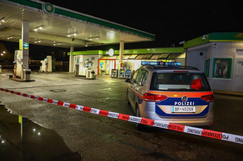 Raubüberfall auf Tankstelle in Wels-Lichtenegg