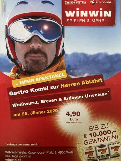 Kitzbühel Abfahrt live im WINWIN Wels