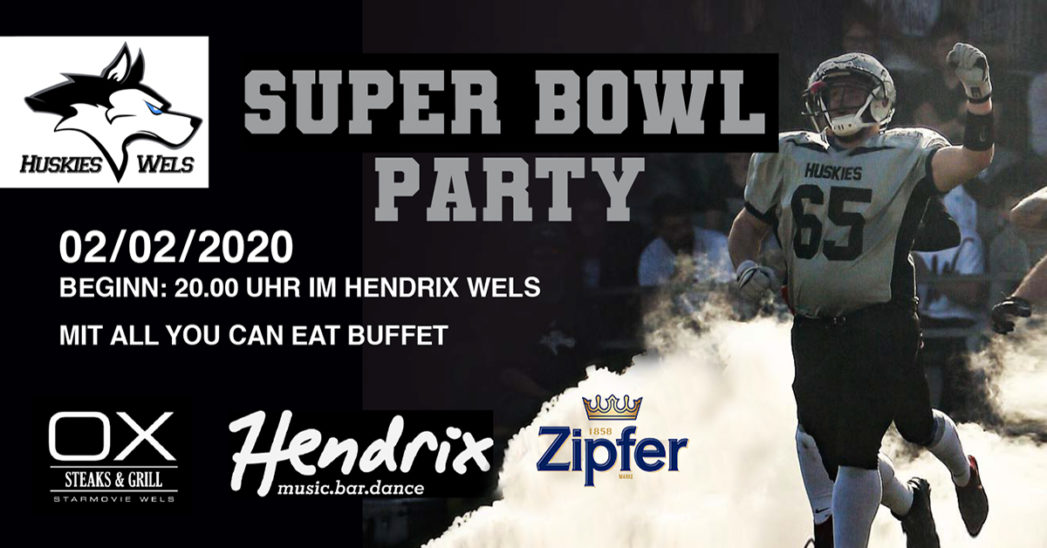 Huskies Wels Super Bowl Party powered by Hendrix.music.bar