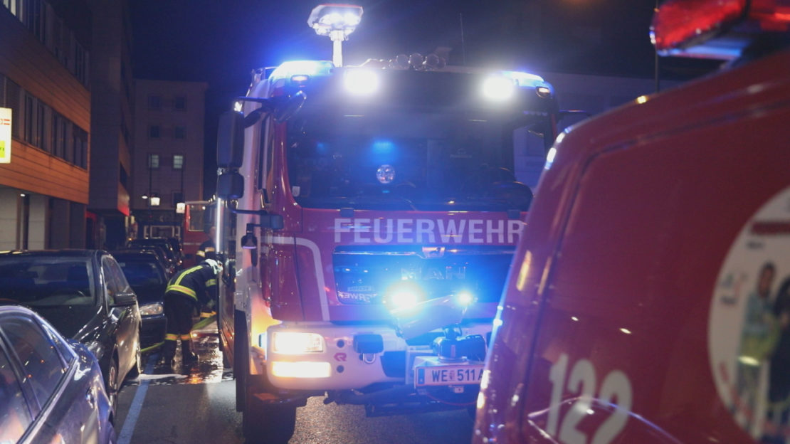 Großeinsatz bei Brand in einer Bildungseinrichtung in Wels-Innenstadt