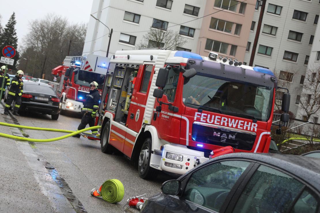 Küchenbrand in einem Hochhaus in Wels-Lichtenegg