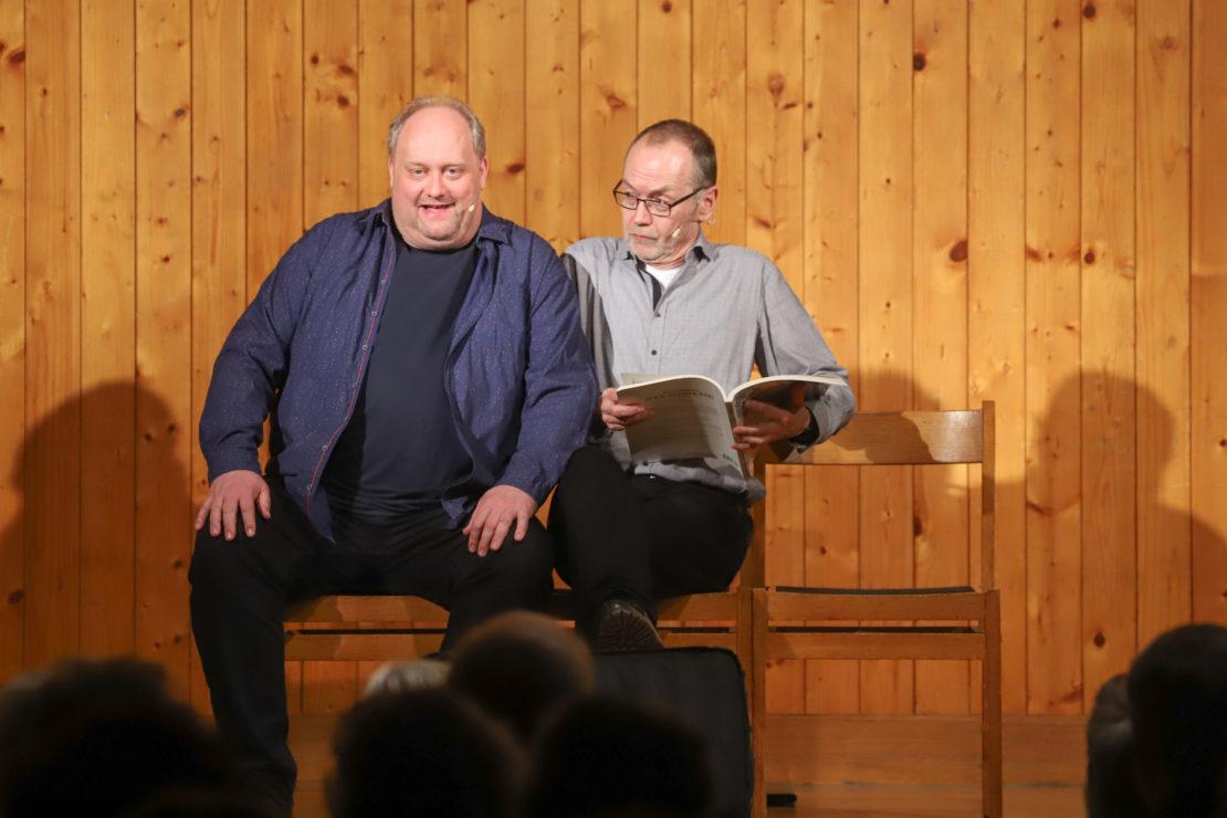 """Kabarettisten Lainer und Aigner brachten mit """"einvernehmlich verschieden"""" den Saal zum Lachen"""