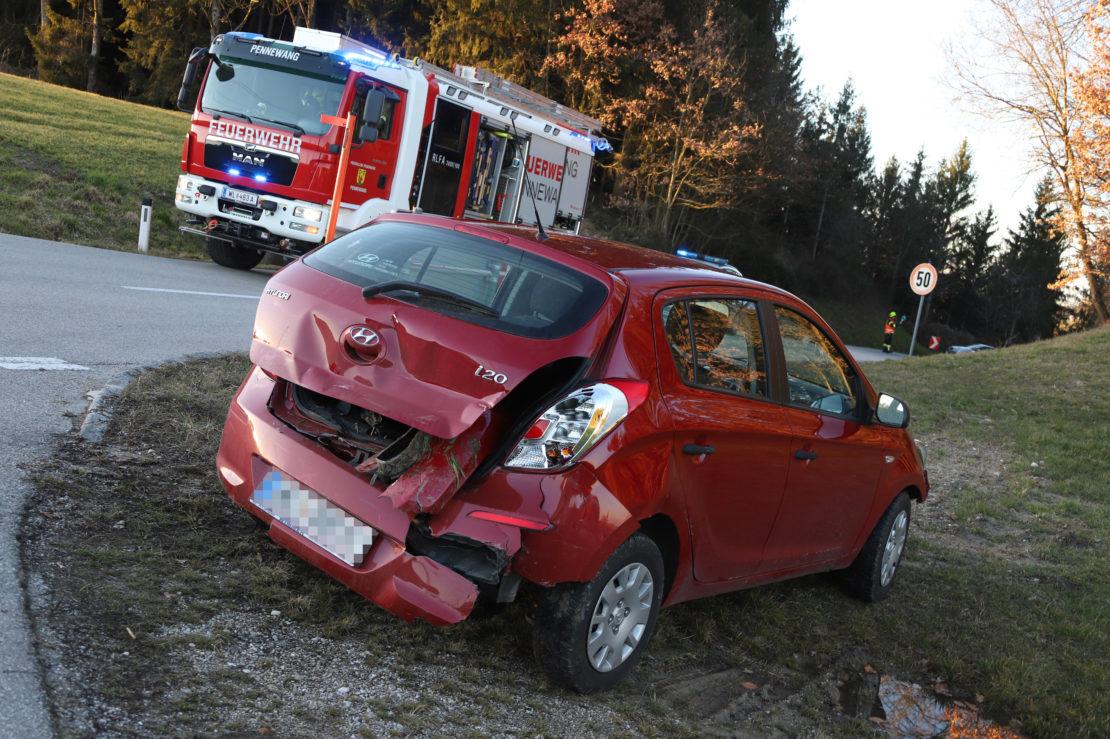 Verkehrsunfall in Pennewang fordert einen Leichtverletzten