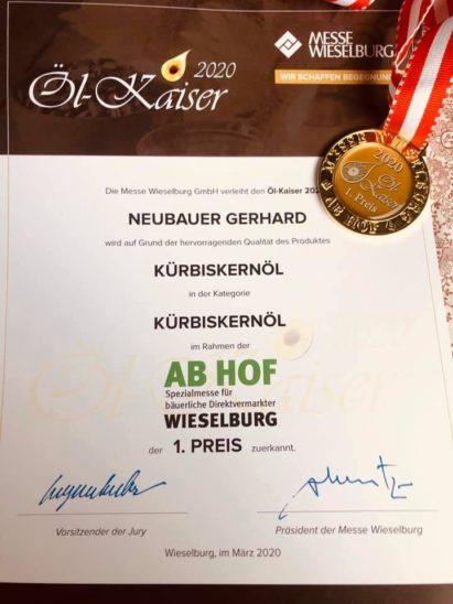 Goldmedaille für Thalheimer Bauer