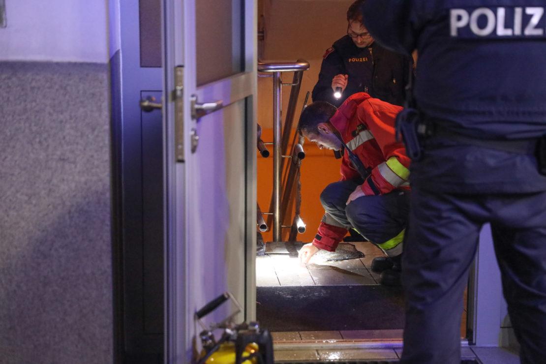 Feuerwehr bei Kleinbrand im Stiegenhaus eines Gebäudes in Wels-Neustadt im Einsatz