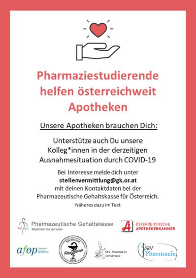 Aufruf an alle Pharmaziestudenten
