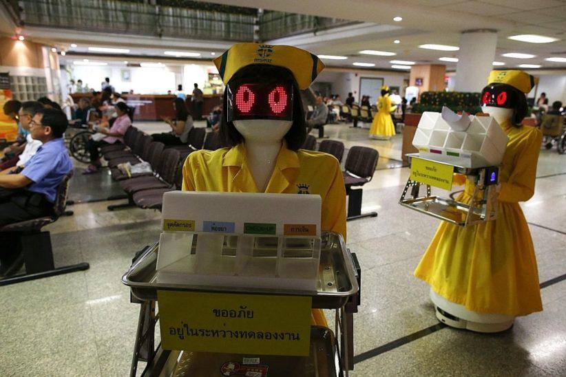 In Thailand messen Roboter das Fieber