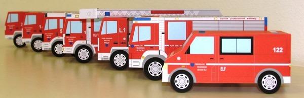 Bastel-Feuerwehrautos für Kinder