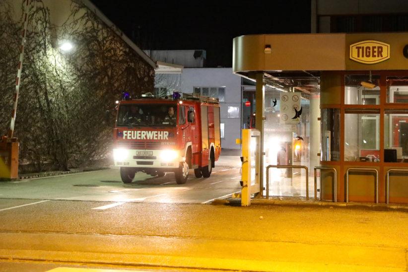 Brand in einer Produktionsanlage bei Unternehmen in Wels-Pernau