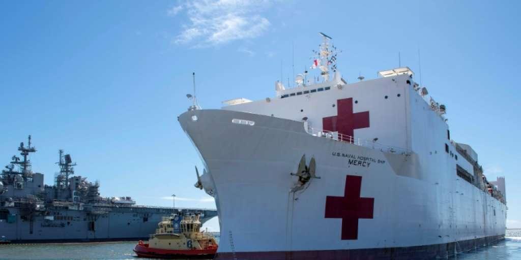 US-Krankenhausschiff erreichte New York