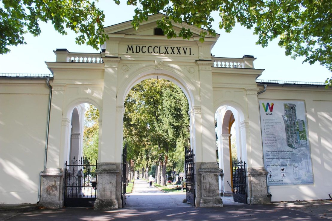 Friedhof Wels wieder geöffnet