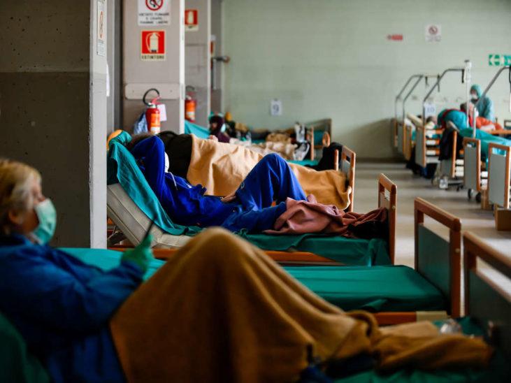 Rückgang bei Todesfällen in Italien, Frankreich und Spanien