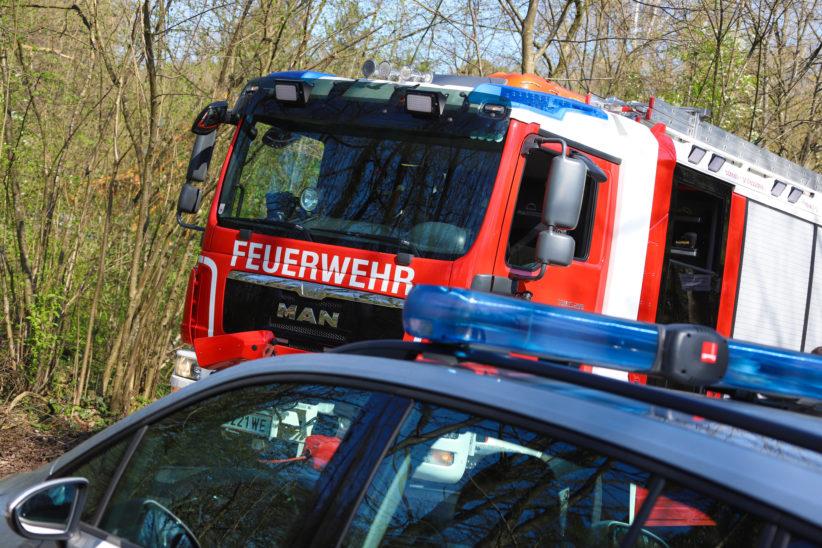 Kleinbrand in einem Waldstück in Wels-Waidhausen