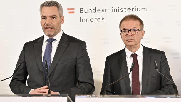 Rudolf Anschober und Karl Nehammer informieren über Containment