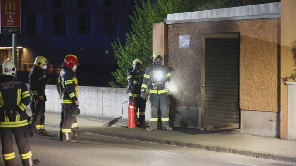 Brand in einer Trafostation in Wels-Lichtenegg führt zu Stromausfall