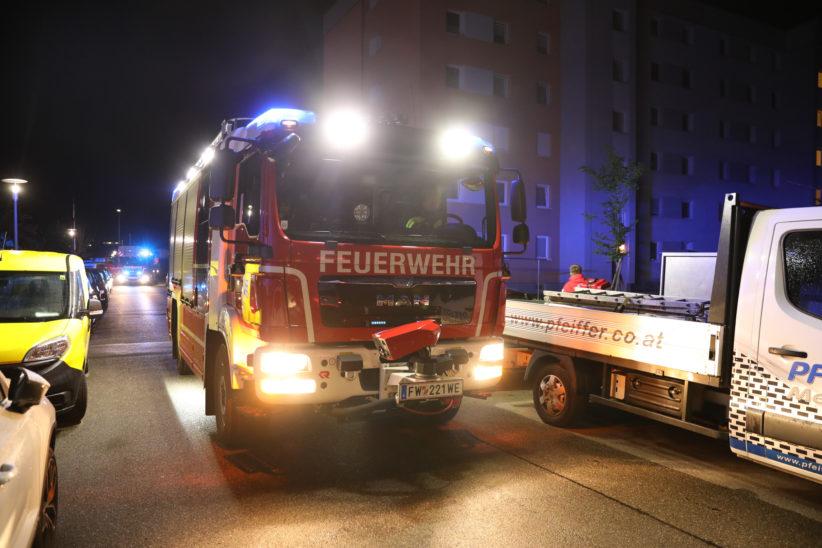 Angebranntes Kochgut in einer Wohnung in Wels-Neustadt löst größeren Einsatz aus