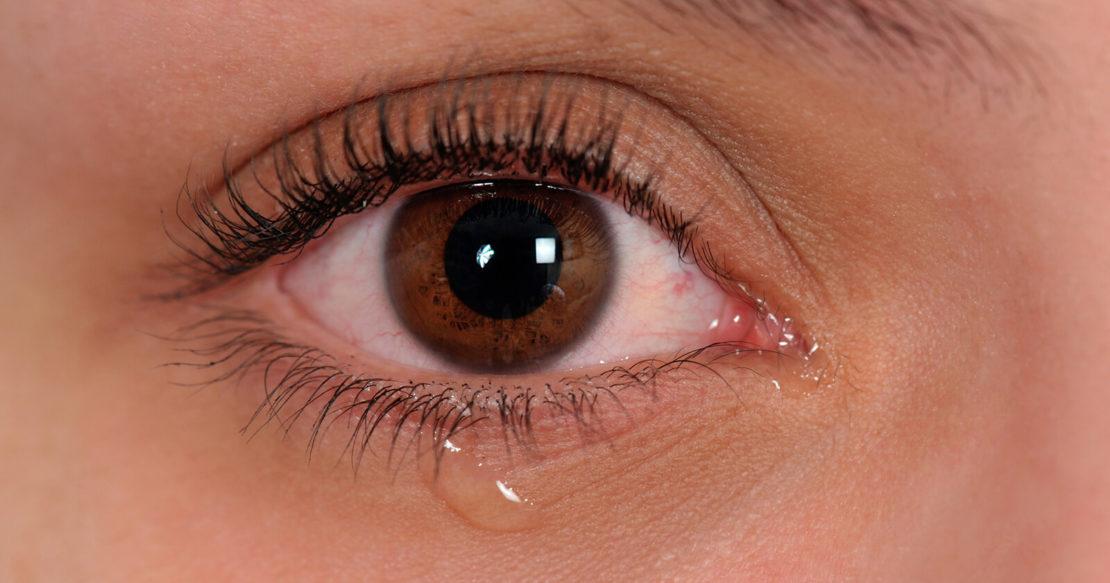 Covid-19 wurden in Tränen einer Patientin isoliert