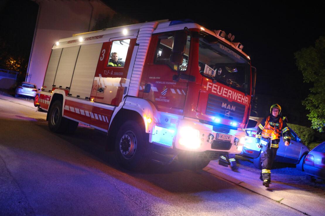 Technischer Defekt an einer Waschmaschine führt zu Einsatz der Feuerwehr in Marchtrenk