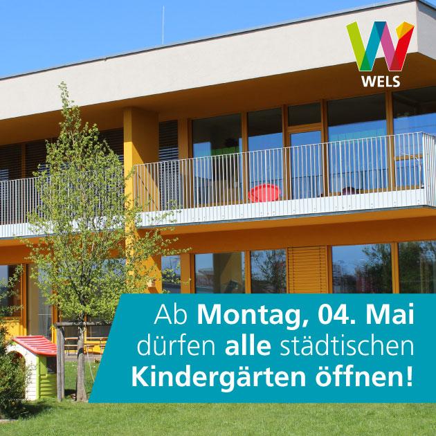 Offene Kindergärten ab 4.Mai