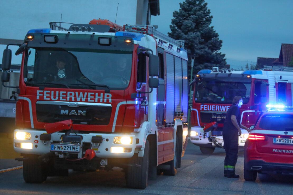 Größeres Lagerfeuer in Wels-Lichtenegg löste Einsatz der Feuerwehr aus