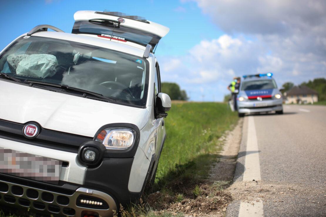 Verkehrsunfall in Thalheim bei Wels endet glimpflich