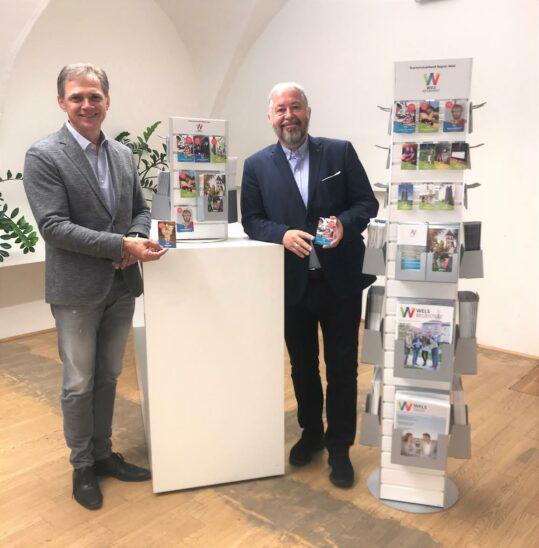 90 Standorte in der Tourismusregion Wels wurden mit analogen Infotowern ausgestattet