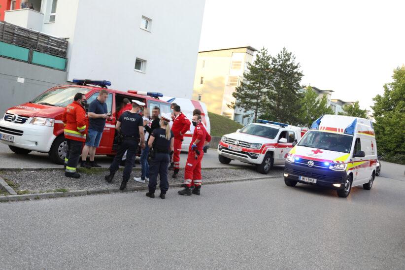 Fettbrand in einer Küche einer Mehrparteienhauswohnung in Wels-Lichtenegg fordert zwei Verletzte