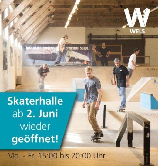 Skatehalle ist wieder offen