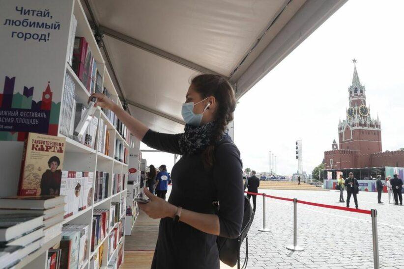Moskau eröffnete trotz Krise Buchmesse am Roten Platz