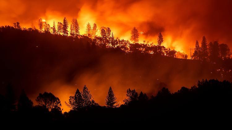 Feuerwehrleute kämpfen gegen Waldbrand in Kalifornien