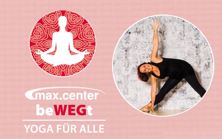 Gratis Yoga am 18. Juni im max.center!