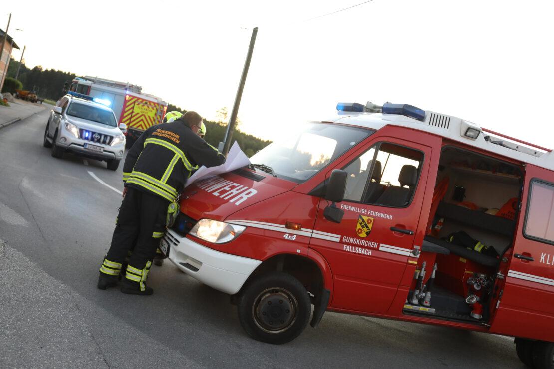 Gasaustritt: Gasleitung bei Arbeiten in Gunskirchen beschädigt