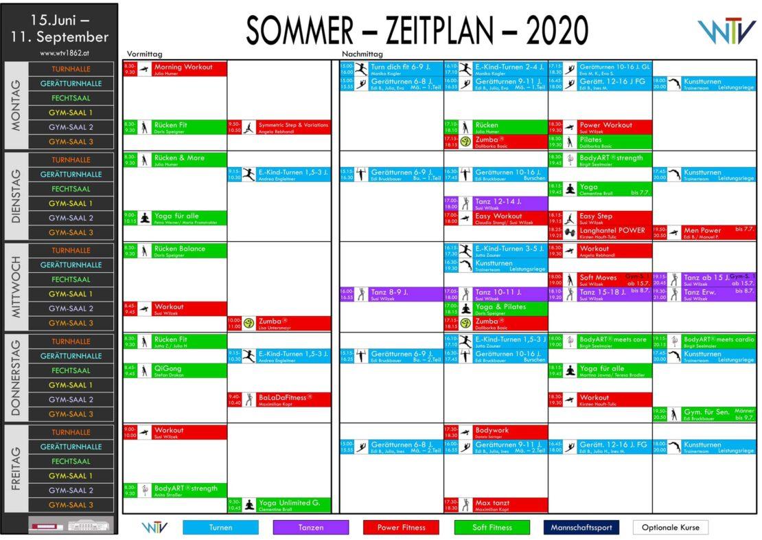 Sommerplan des WTV